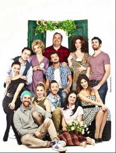 Il Cast di Sarà Perché Ti Amo insieme al regista Alfonso Lambo